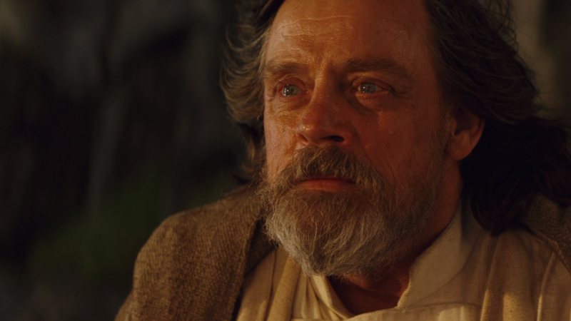 The final moments of Luke Skywalker: A glimmer of hope at the end of a life filled with regrets.