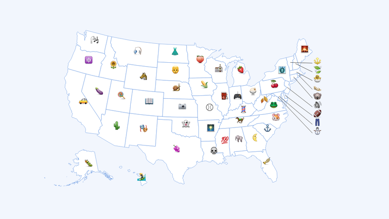 No, These Aren't Each State's Favorite Emoji
