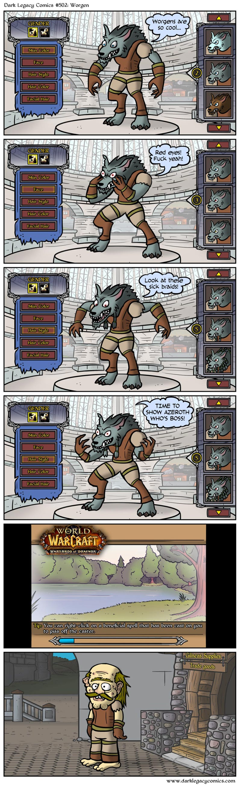 The Truth About World of Warcraft's Worgen Characters