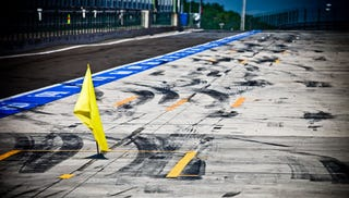 Illustration for article titled What Tarmac Looks Like After a Formula One Race