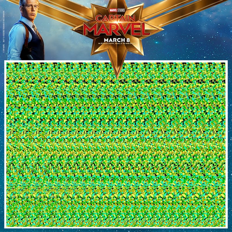 Captain Marvel Wants to Know If You Remember Magic Eye