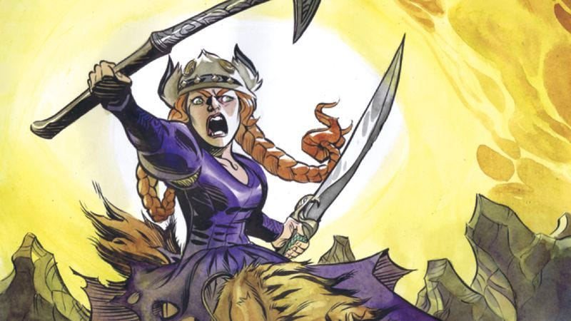 Illustration for article titled Princess Ugg caps off an exceptional year for female comic-book characters