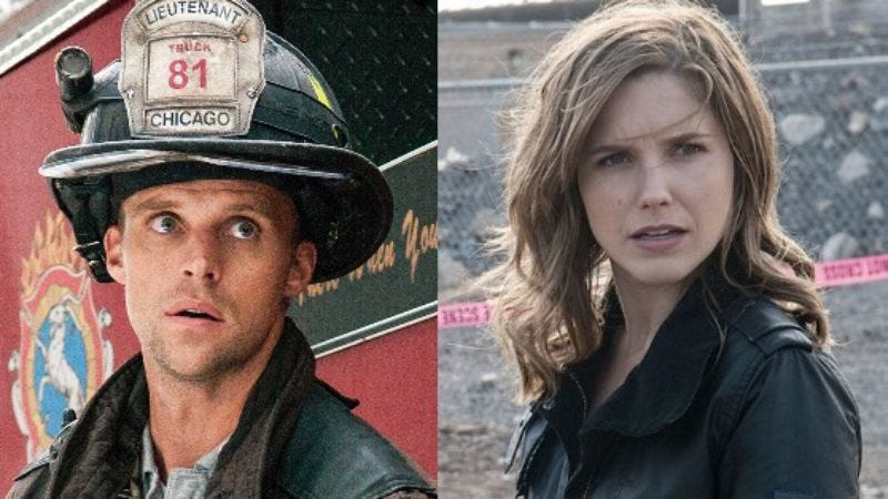 Trust us, they're thrilled (Photos: Chicago Fire; Chicago P.D.)