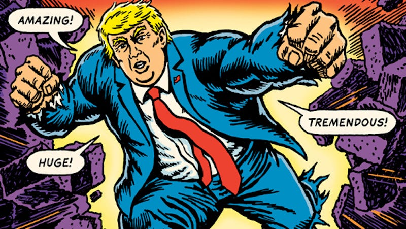 Illustration for article titled The Unquotable Trump Uses the U.S. President's Own Words to Turn Him Into a Comic Book Villain