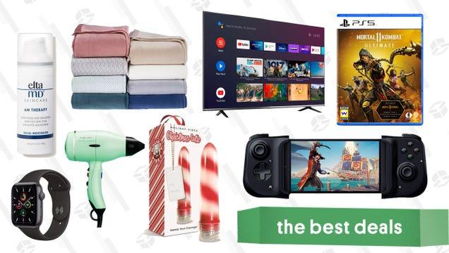 Tuesday s Best Deals: Apple Watch SE, Mortal Kombat 11 Ultimate, Adam & Eve Stocking Stuffers, Razer Kishi, EltaMD Face Moisturizer, TCL 50  4K Smart TV, and More