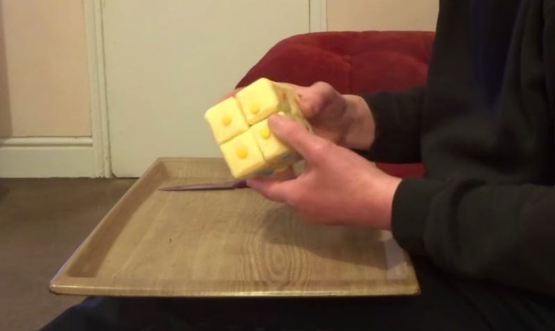 Illustration for article titled Man who created Rubik's Cube out of cheese deserves our respect