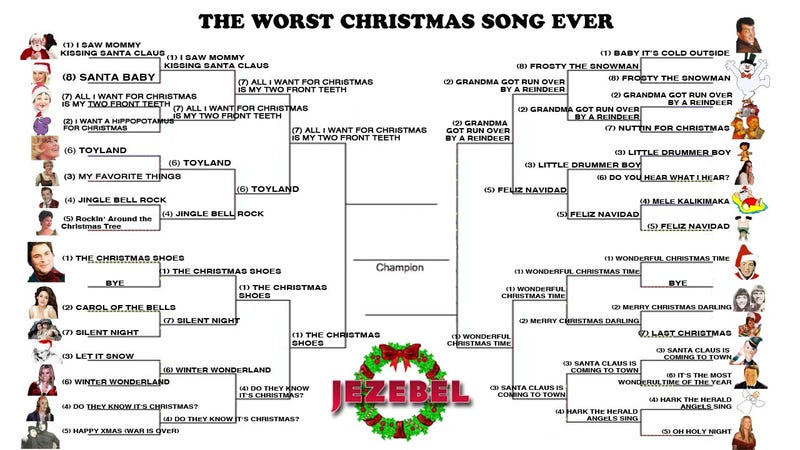 Illustration for article titled Worst Christmas Song Ever: The Semifinals of Seasonal Suck