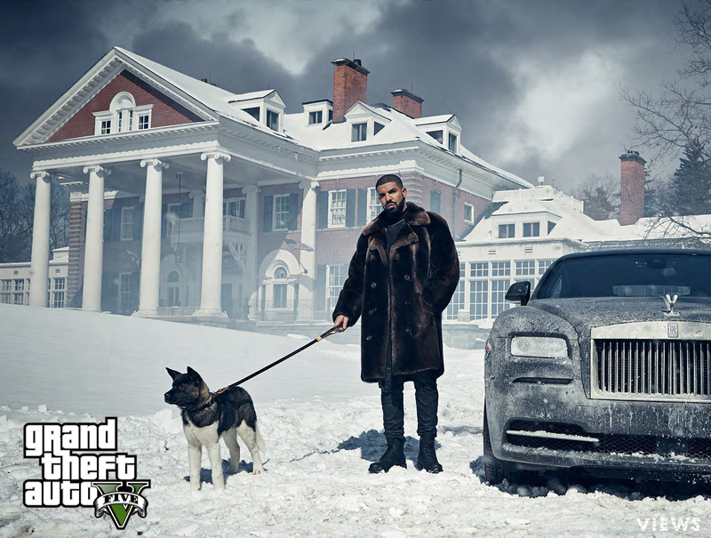 Illustration for article titled Drake Looks Like He's About To Run A Heist In GTA V