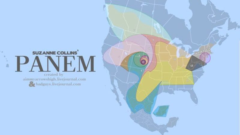 Some map nerds made a sweet map of The Hunger Games\' Panem