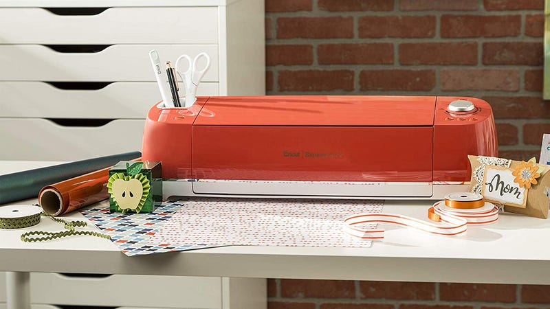 Cricut Explore Air 2 Mint Bundle with Vinyl Sampler and Basic Tool Set | $230 | AmazonCricut Explore Air 2 (Mint, Persimmon, and Cherry Blossom) | $211 | Amazon