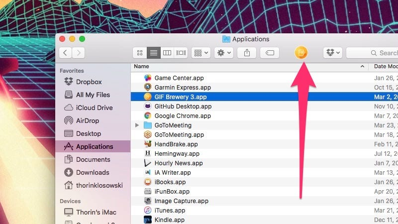 Add a Shortcut In OS X Finder to Any App, File, or Folder