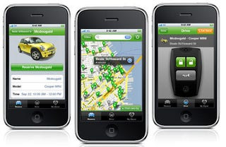 zipcar app finally hits the streets use an iphone to find and unlock your rental car. Black Bedroom Furniture Sets. Home Design Ideas