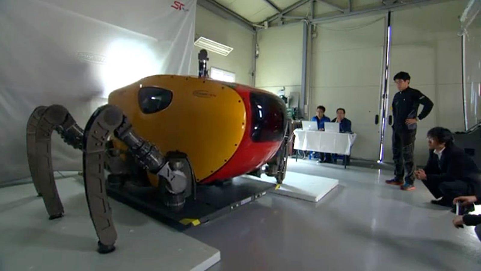 Este cangrejo-robot gigante explorará el fondo marino de Corea