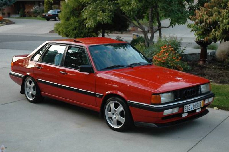 For $4,750, This 1987 Audi 4000CS Quattro Is Red and Ready