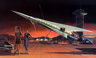 Illustration for article titled Spaceport of the Future (1957)