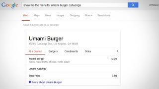 Illustration for article titled Google Adds Restaurant Menus to Search Results