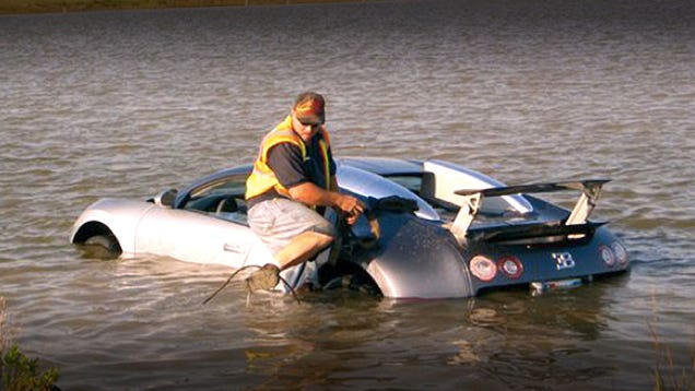 "Man ""intentionally"" drove $2.2 million Bugatti Veyron into lake"