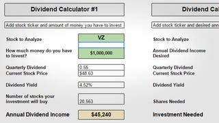 Illustration for article titled This Calculator Helps Estimate How Much You Need to Live Off Dividends
