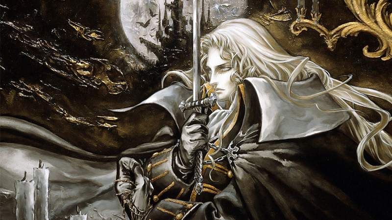 Castlevania: Symphony of the Night box art by Ayami Kojima.