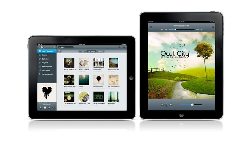 Illustration for article titled Rdio's iPad App Now Available