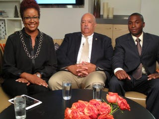 Harriette Cole, former Commissioner of New York City's Office of Veterans Affairs Terrance Holliday and Army Reserve Capt. Michael McLeanCourtesy of Harriette Cole Media