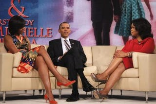 """The Obamas appear on """"The Oprah Winfrey Show."""" (Google)"""