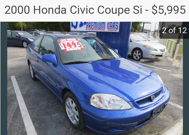 Illustration for article titled NPOCP- 2000 Honda Civic Si for $5,995