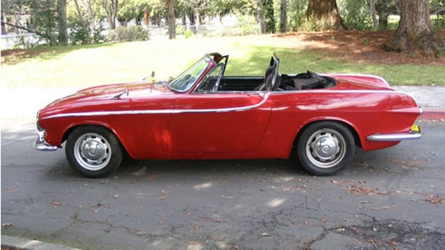 Oh Holy Hell, It's A V-8-Powered Volvo P1800 Convertible