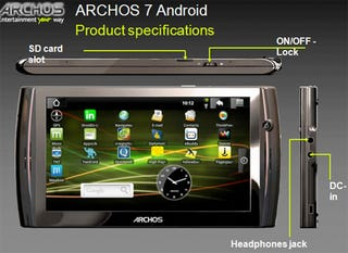 Illustration for article titled Archos 7 Android Tablet Leaked, Featuring Webcam For Video Chat and New 7-Inch Size