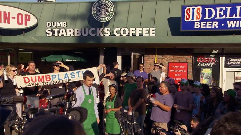 "Illustration for article titled Nathan For You: ""Dumb Starbucks"""