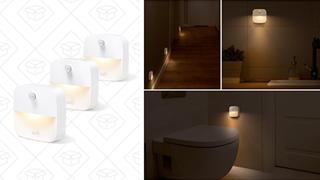 Pack de 3 luces Lumi para pegar en cualquier sitio | $10 | AmazonPack de 4 luces para enchufar | $10 | Amazon