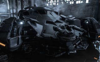 Illustration for article titled Here's the first official picture of the new Batmobile and it looks sick