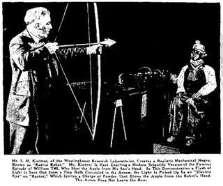Illustration for article titled Rastus Robot, the Mechanical Negro (1931)
