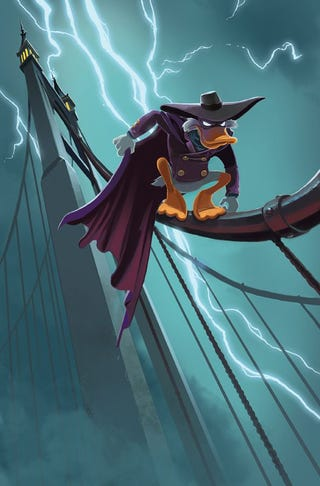 Illustration for article titled It's Darkwing Duck Day