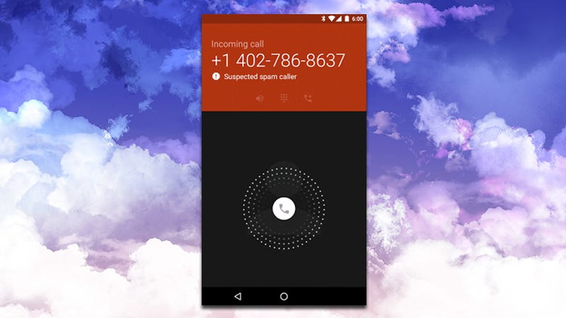 Illustration for article titled Google's Dialer App Now Warns You When You're Getting a Call From a Spammer