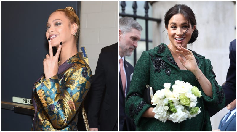 Illustration for article titled Duchess, Meet Queen? Beyoncé and Meghan Markle May Meet at The Lion King's London Premiere
