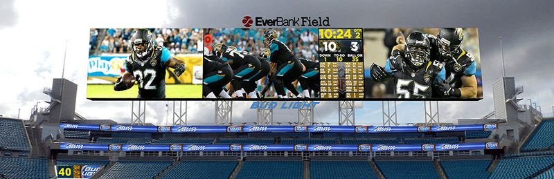 Illustration for article titled The World's Largest HD LED Display Takes Over Jacksonville