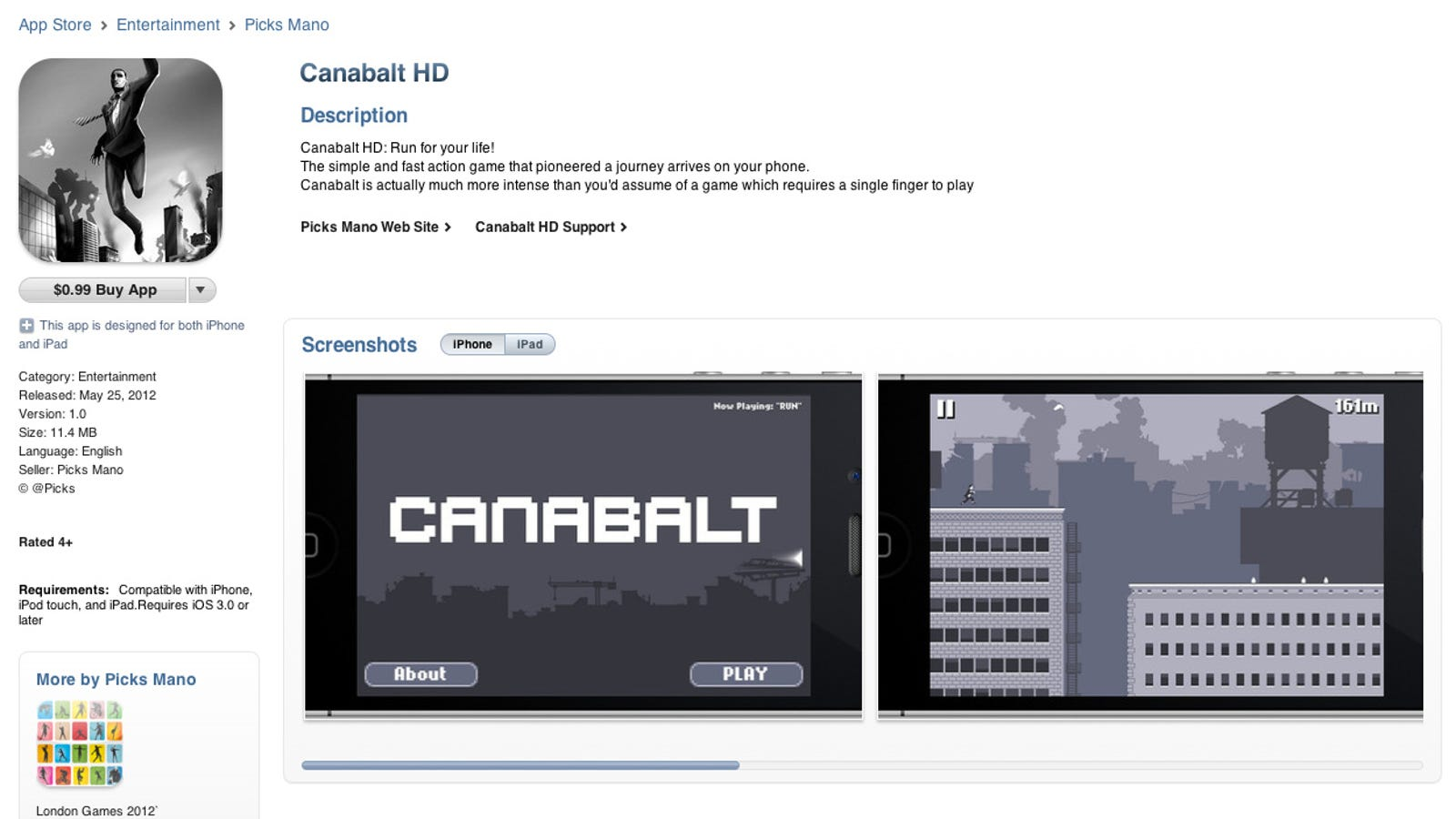 Bogus Canabalt HD Hits App Store Just In Time to Scam Off