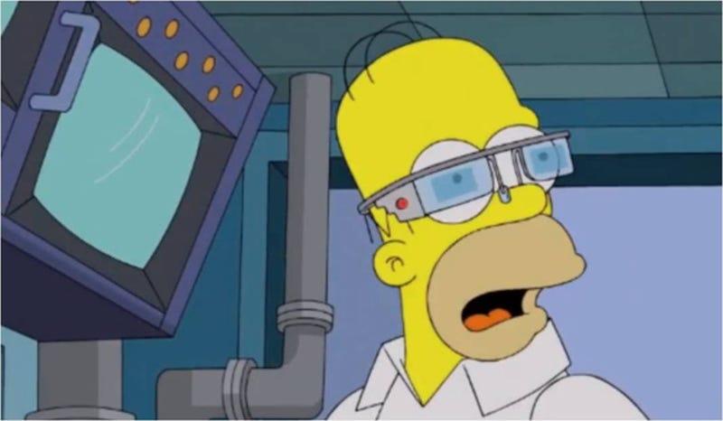 Illustration for article titled Los Simpson demuestran lo ridículas que podrían ser las Google Glass