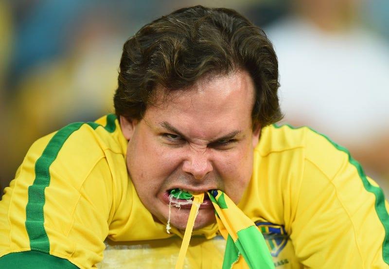 Illustration for article titled The Maddest And Saddest Brazil Fans