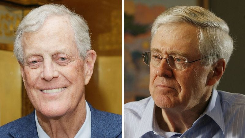 Illustration for article titled Report Finds Koch Brothers Increasingly Falling Under Control Of Influential, High-Powered Trillionaire