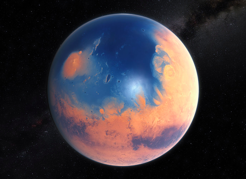 Illustration for article titled New NASA Findings Suggest Mars Was Once Home To A Giant Ocean