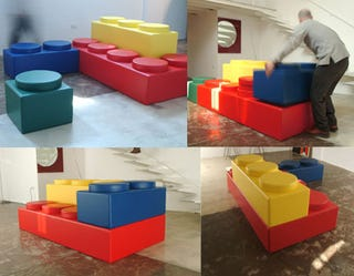 Illustration for article titled Lego Sofa: Complete Lego Life Transformation Now Possible