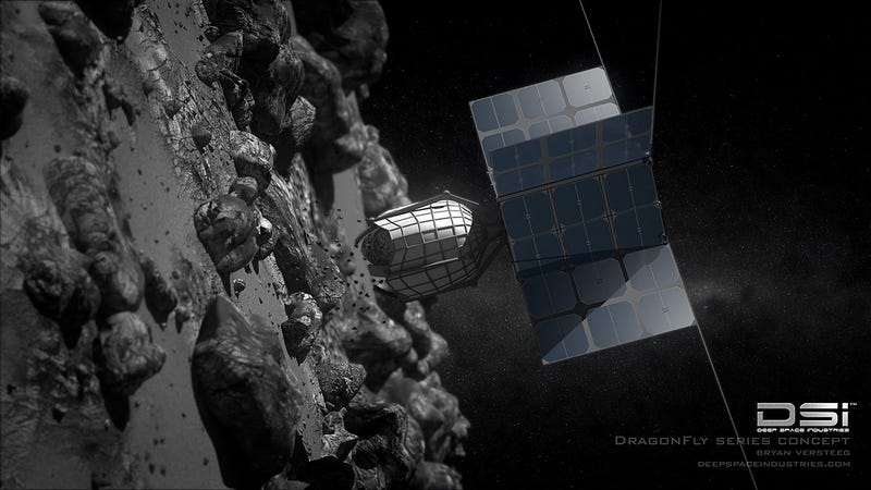 Dragonfly, a concept spacecraft for mining asteroids. Image: Deep Space Industries