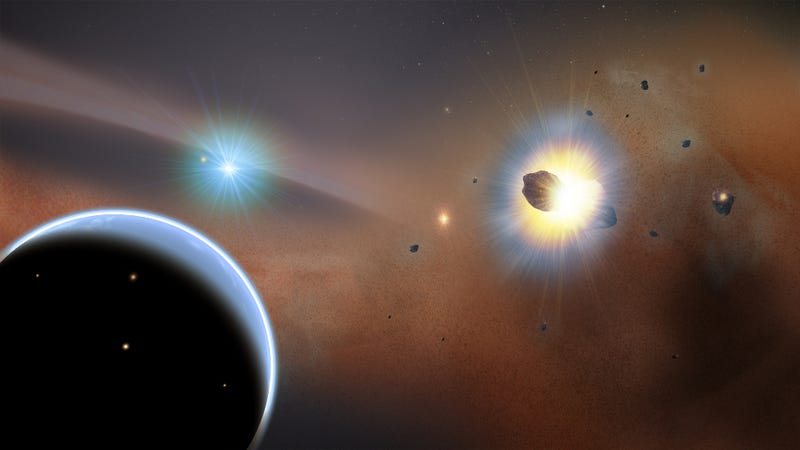 Illustration for article titled Beta Pictoris: One of the most violent solar systems ever discovered