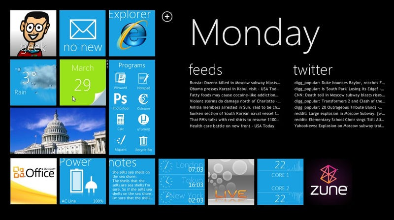 Illustration for article titled How to Transform Your Windows Desktop with an Amazing Windows Phone 7-Style HUD