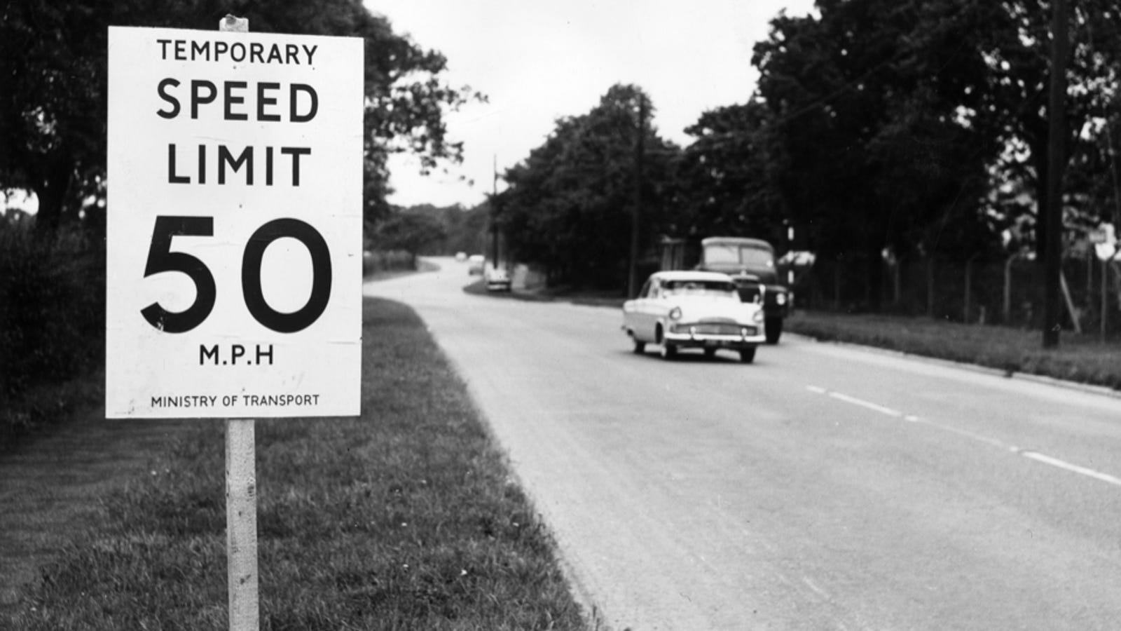 What speed of the car should be in the yard, if there are no restrictive signs