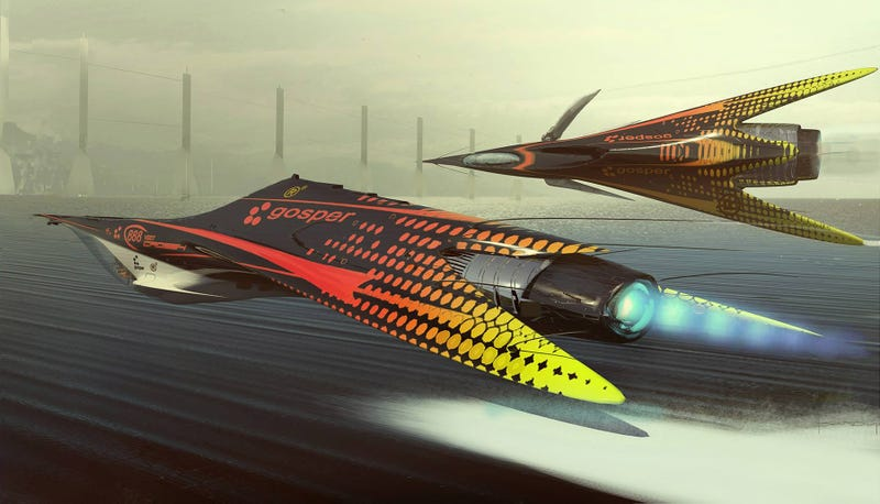 Illustration for article titled I can't wait to see these cool racers flying over Earth's oceans