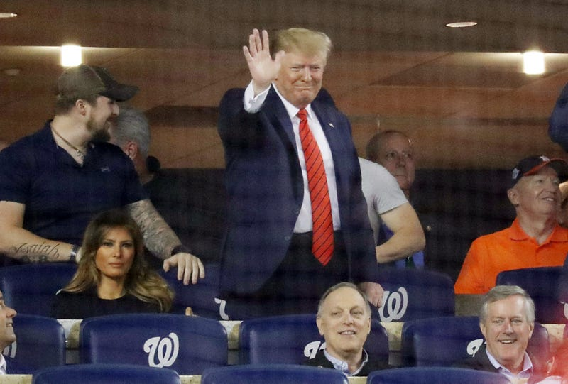 Illustration for article titled Donald Trump Makes Rare Public Appearance at World Series, Gets Hammered With 'Lock Him Up,' 'Impeach Him' Chants for His Trouble
