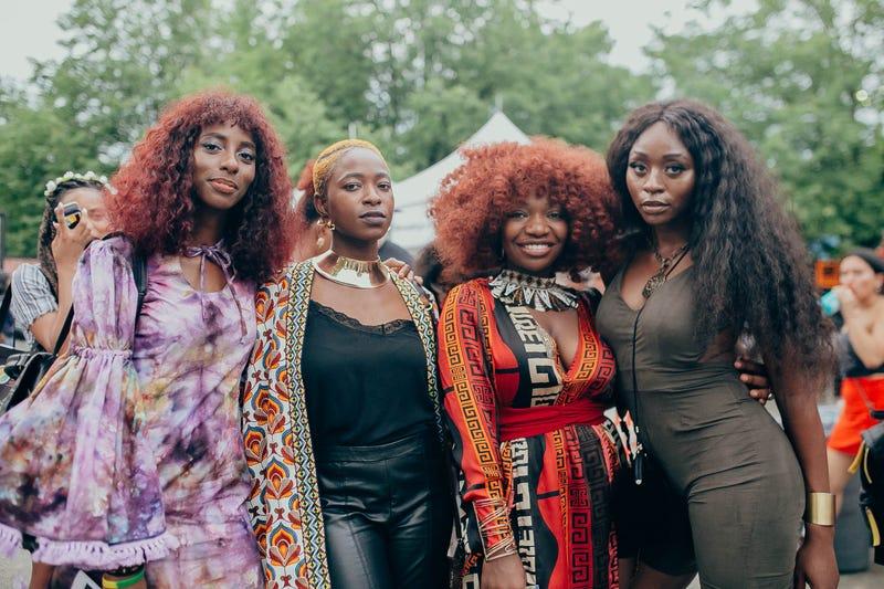 Attendees of AfroPunk 2018.